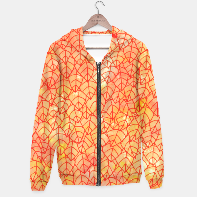"""""""Autumn foliage"""" Unisex Hoodie by Savousepate on Live Heroes #clothing #apparel #orange #yellow #red #foliage #leaves #nature #autumncolors #fallcolors #pattern #drawing #watercolor"""