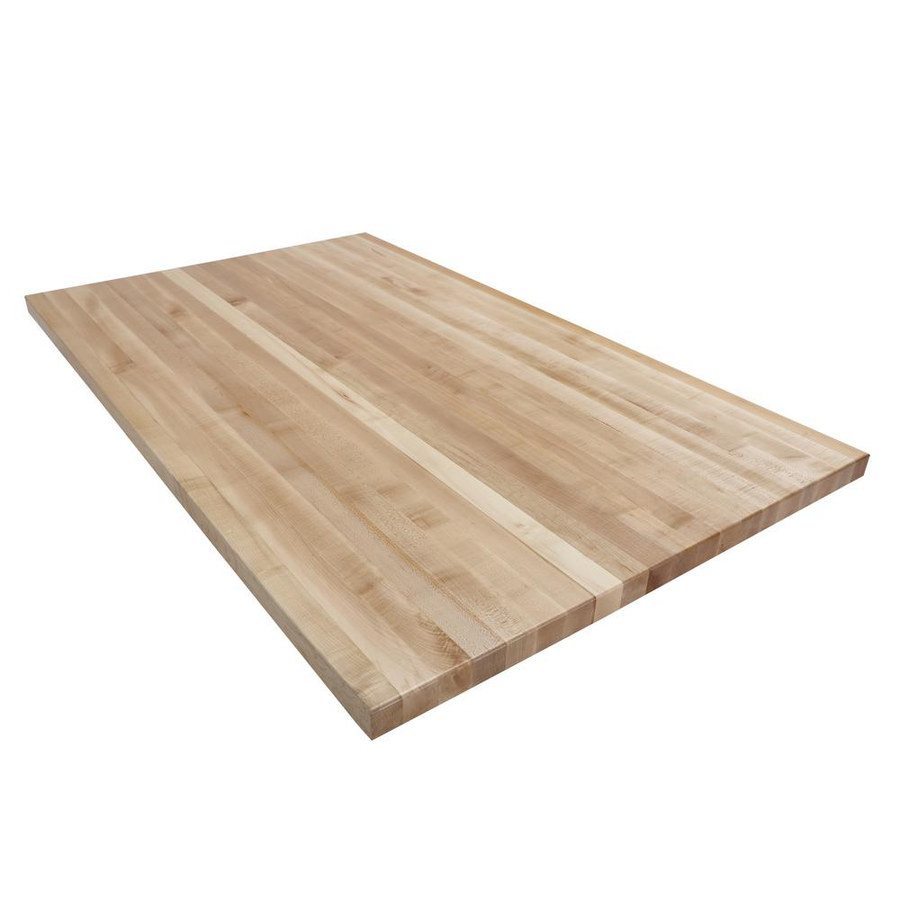 Swaner Hardwood 5 Ft L X 3 Ft D X 1 75 In T Butcher Block