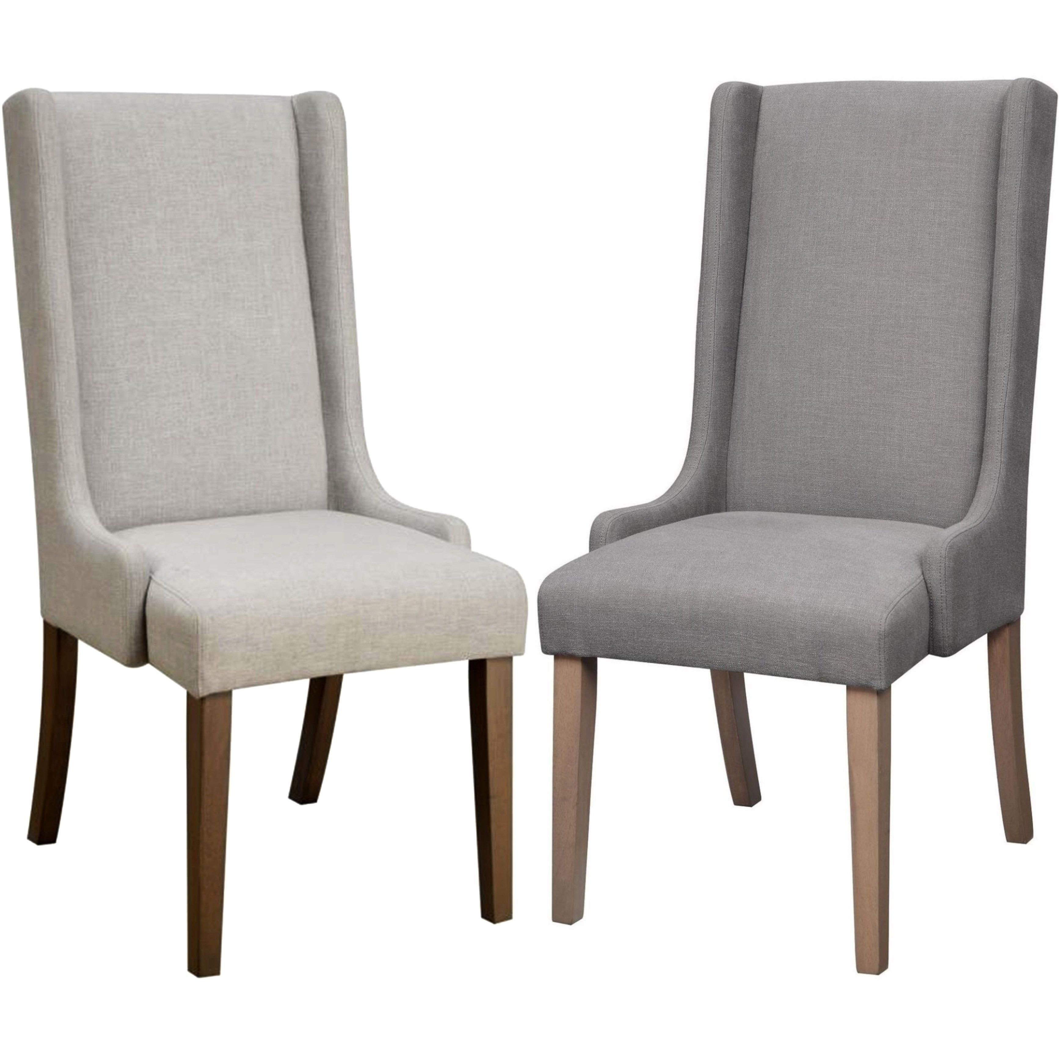 Mid Century Design Wing Back Dining Chairs Set Of 2 Grey Set