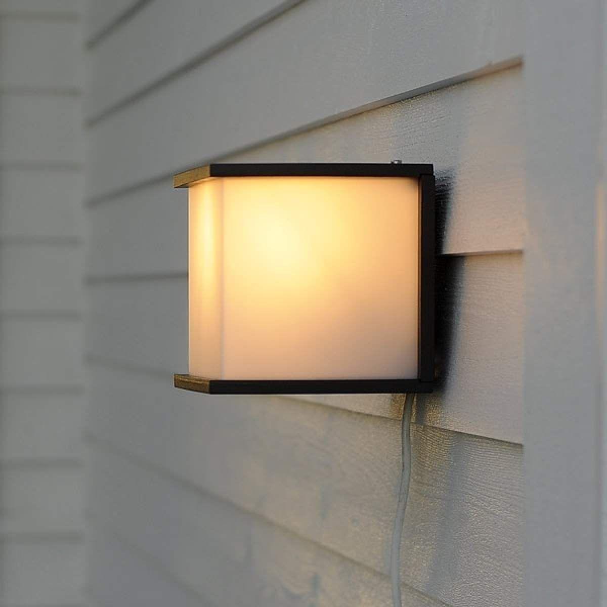 Aussenwandleuchte Cube Anthrazit Aussenwandleuchte Wandbeleuchtung Lampen Aussen