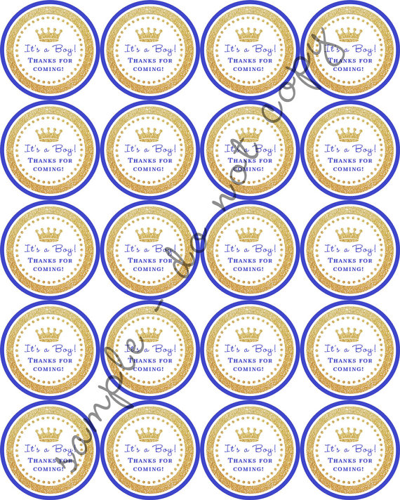 Instant Download Boy Royal Prince Crown Baby Shower 2 Printable