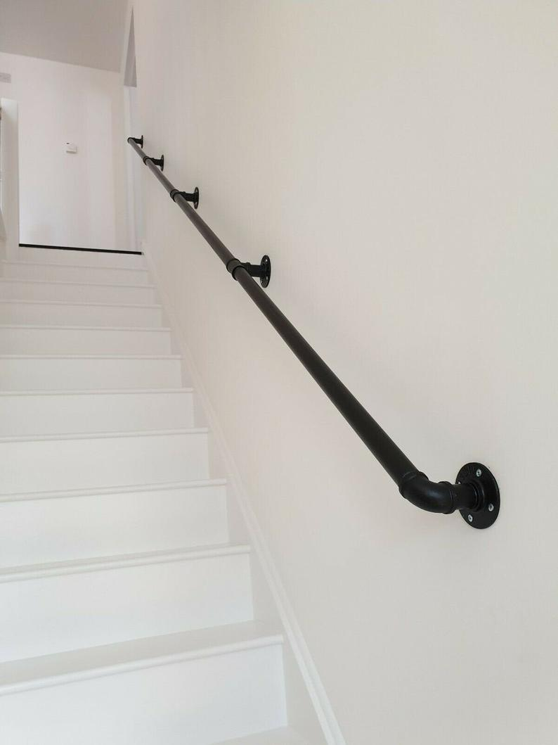 Stair Hand Rail Bannister Handrail Brackets Cast Iron Etsy Stair Railing Makeover Diy Stair Railing Indoor Stair Railing
