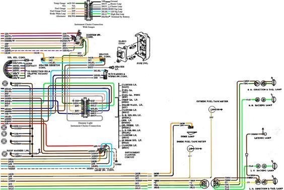 6772 chevy wiring diagram  chevy trucks 72 chevy truck