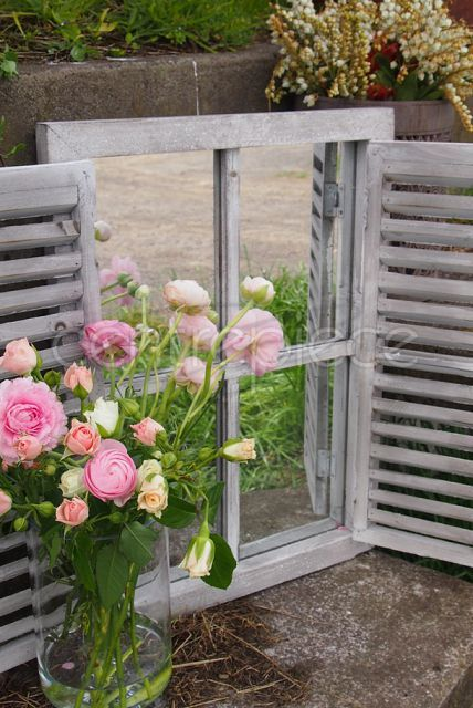 Mirror Window Style with Shutters - Centrepiece event hire Auckland