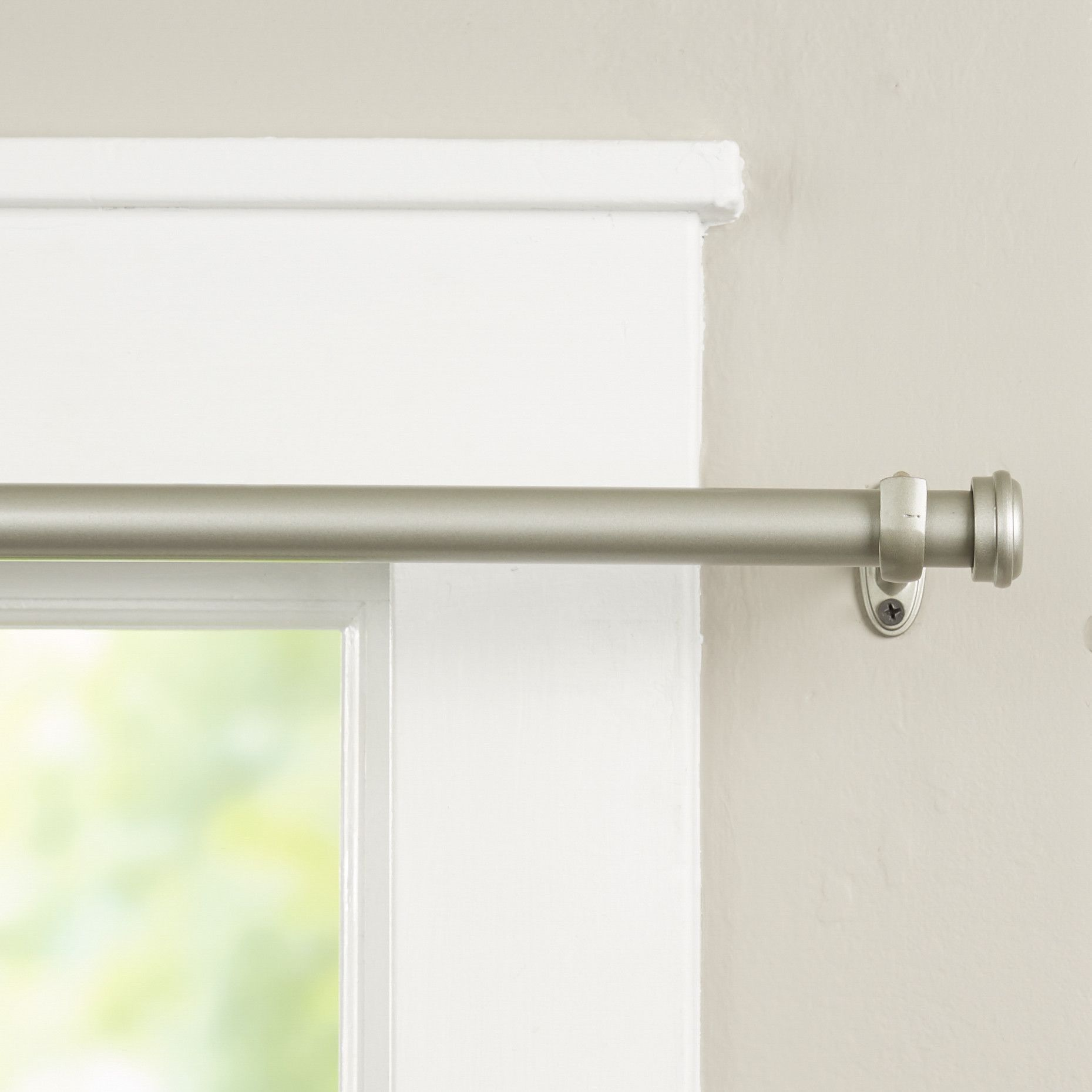 End Cap Single Curtain Rod & Hardware Set