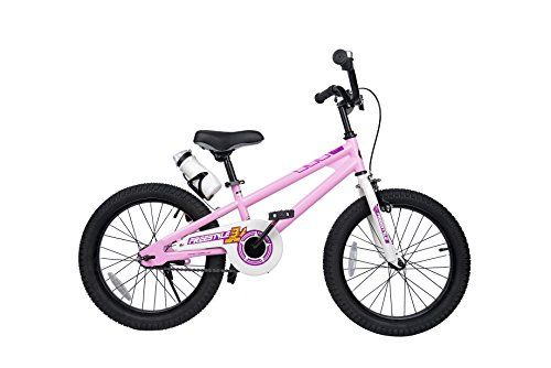 09446fb4c6f Royalbaby RB18B-6P BMX Freestyle Kids Bike, Boy's Bikes and Girl's Bikes  with Training Wheels, Gifts for Children, 18 inch Wheels, Pink