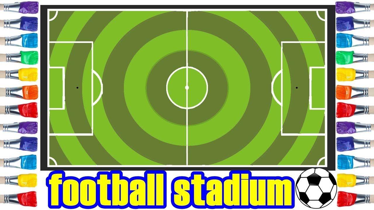 رسم ملعب كرة قدم للاطفال Draw Football Stadium Animal Drawings Border Design Drawings