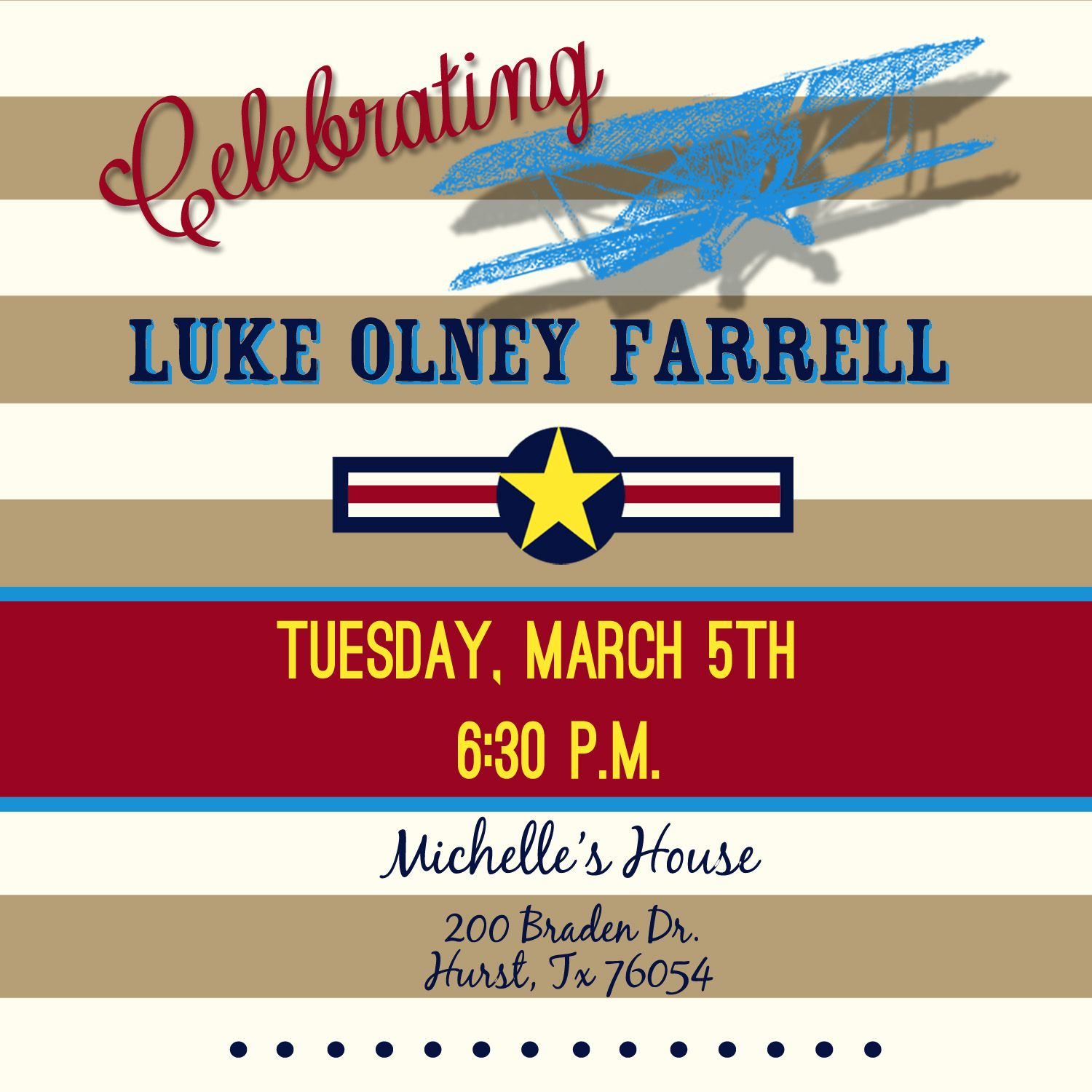 Vintage Airplane Party Invitation | Everything Design- Custom Work ...