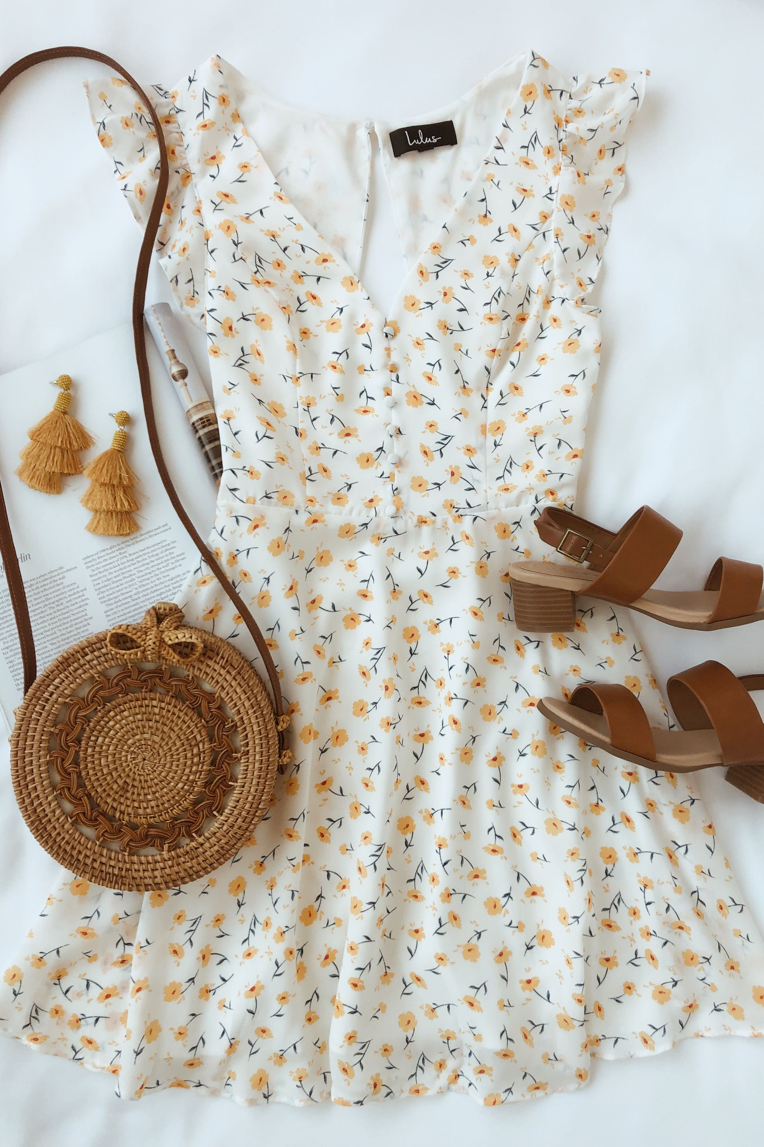 Sundress season is here and this white floral skater dress is perfect for summer…