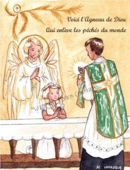 Images pieuses religieuses missel premi re communion priv e vintage children art communion - Image religieuse gratuite a imprimer ...