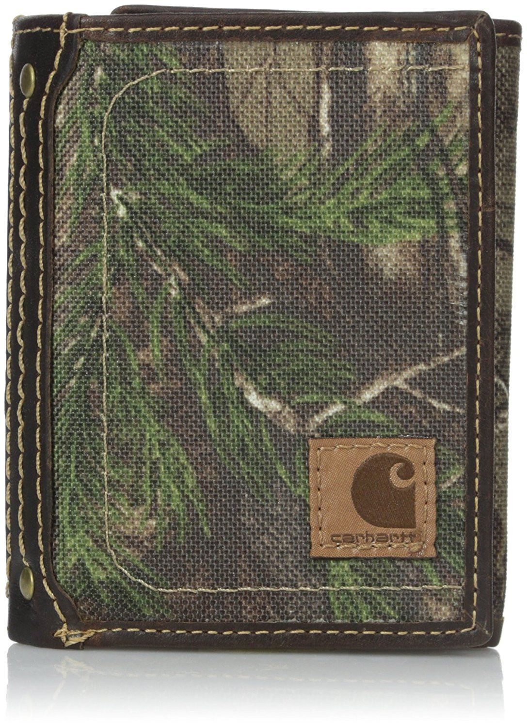 REALTREE RFID TRI-FOLD LEATHER WALLET