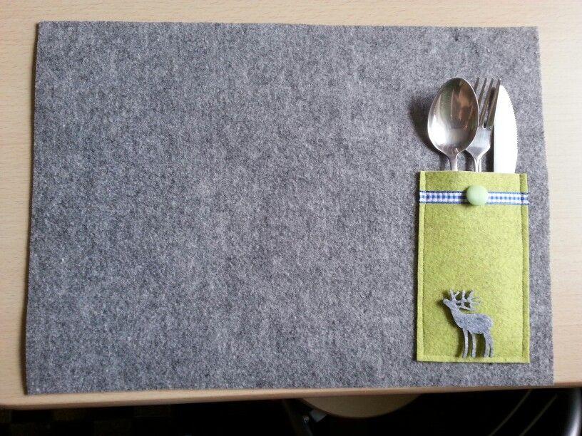 tischset mit bestecktasche basteln kreativ pinterest bestecktasche tischset und konfirmation. Black Bedroom Furniture Sets. Home Design Ideas