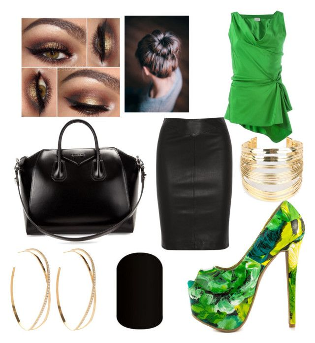 """""""Green and Black"""" by mrsgino ❤ liked on Polyvore featuring Joseph, Lanvin, Shoe Republic LA, Givenchy, Lana and WithChic"""