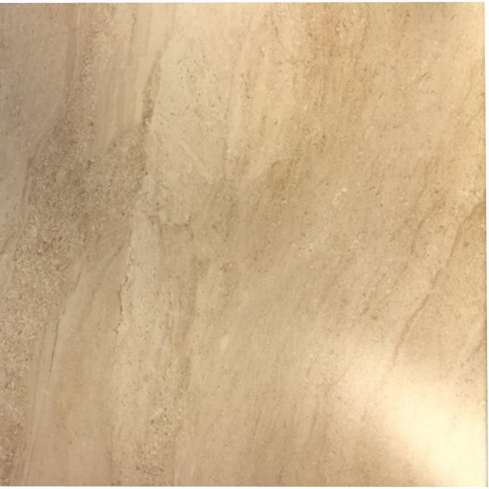 TrafficMASTER Parma Beige 18 in. x 18 in. Ceramic Floor Tile (17.50 ...