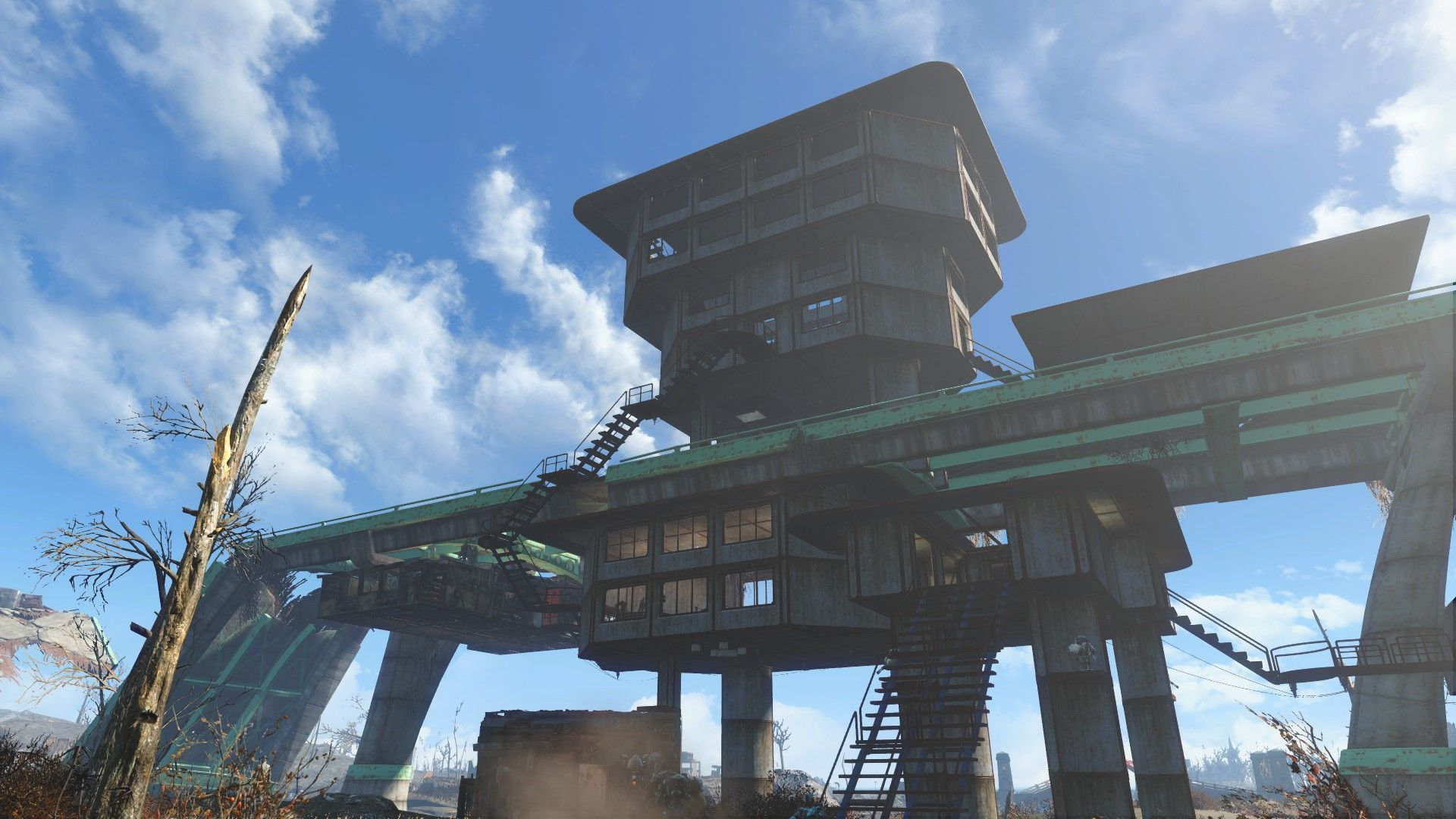 An alternate way to the overpass at Finch Farm. Fallout4