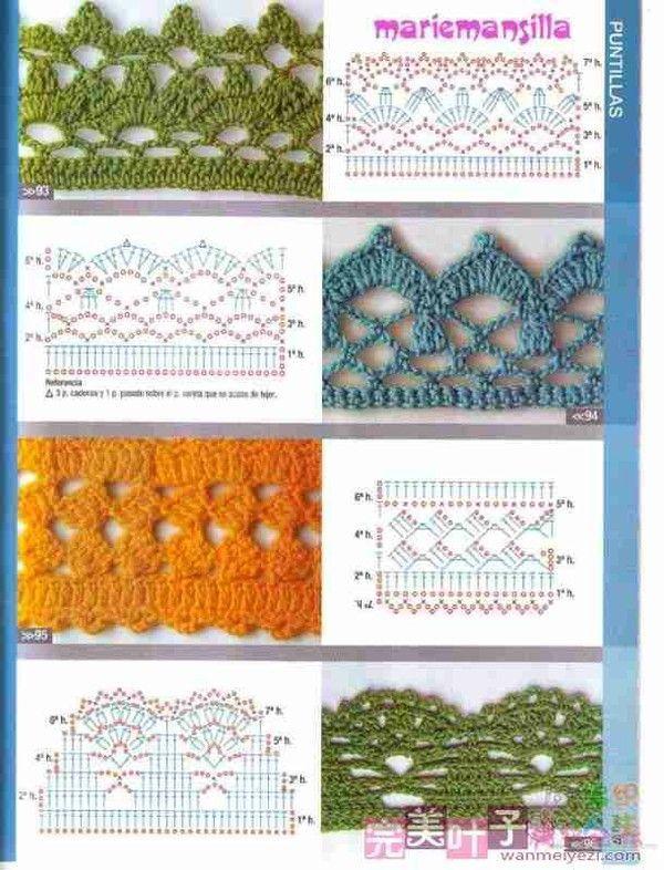 Luty Artes Crochet Barrados De Croche Grafico Com Imagens