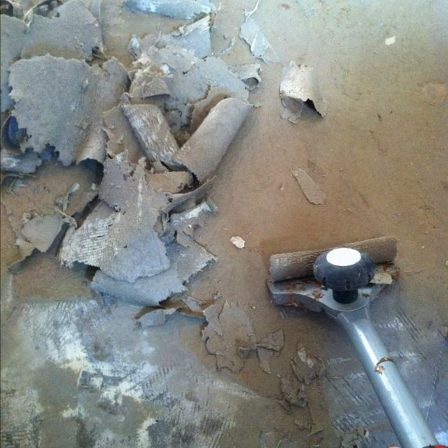 Remove Linoleum Glue By Pouring Boiling Water Over Floor And Let