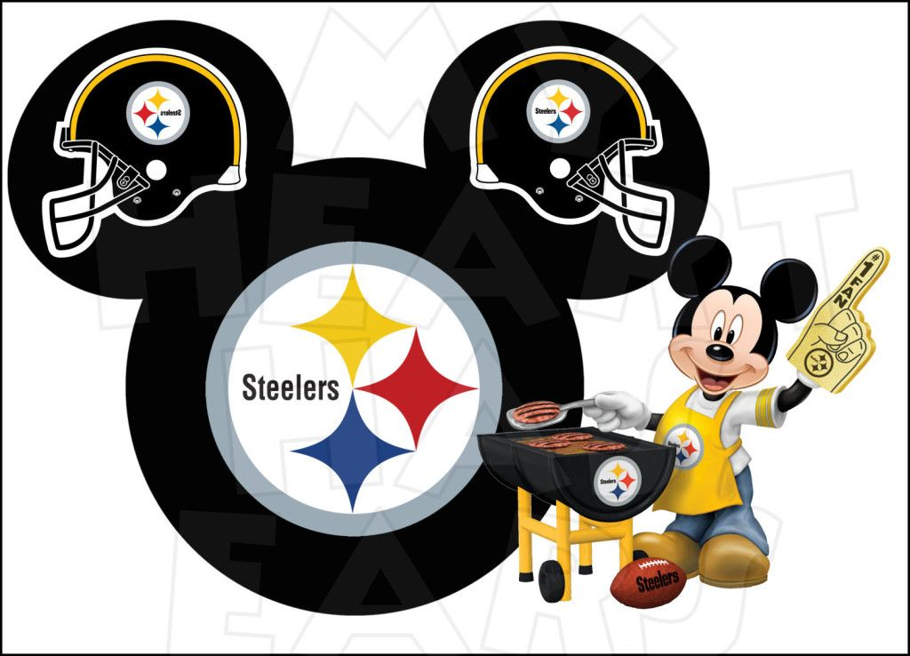 disney and pittsburgh steelers shirt transfer pittsburgh steelers football with mickey mouse instant download