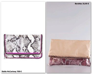 Cartera de Stella McCartney (708€) vs. Cartera de Bershka (25,95€)