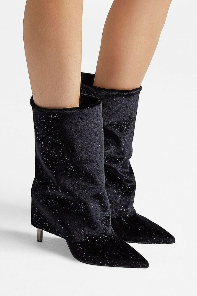 Ebay Sponsored Balmain Babette Leather Metallic Velvet Boot 4 5