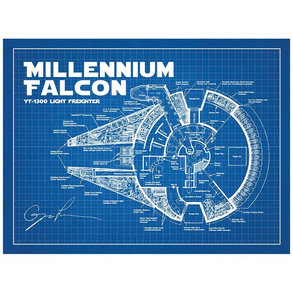 Amazon sci fi and fantasy star wars millennium falcon amazon sci fi and fantasy star wars millennium falcon blueprint malvernweather Images