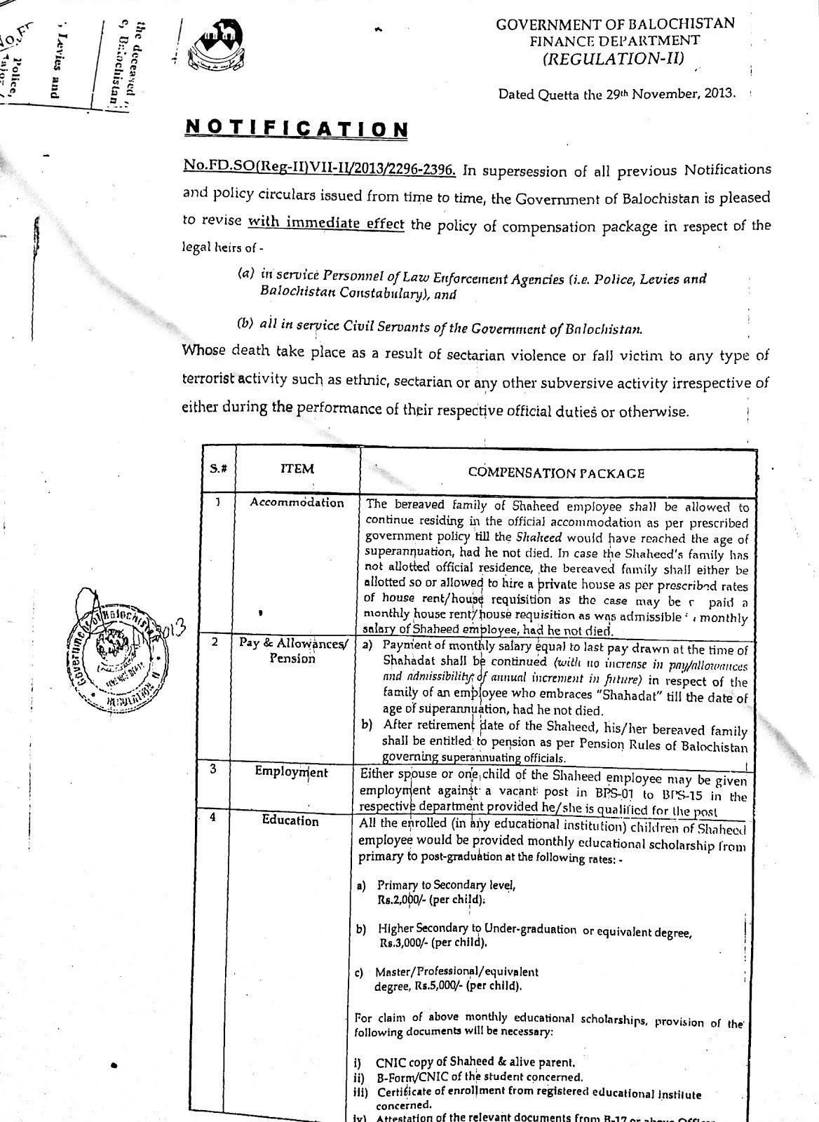 bank exam notifications in november 2013