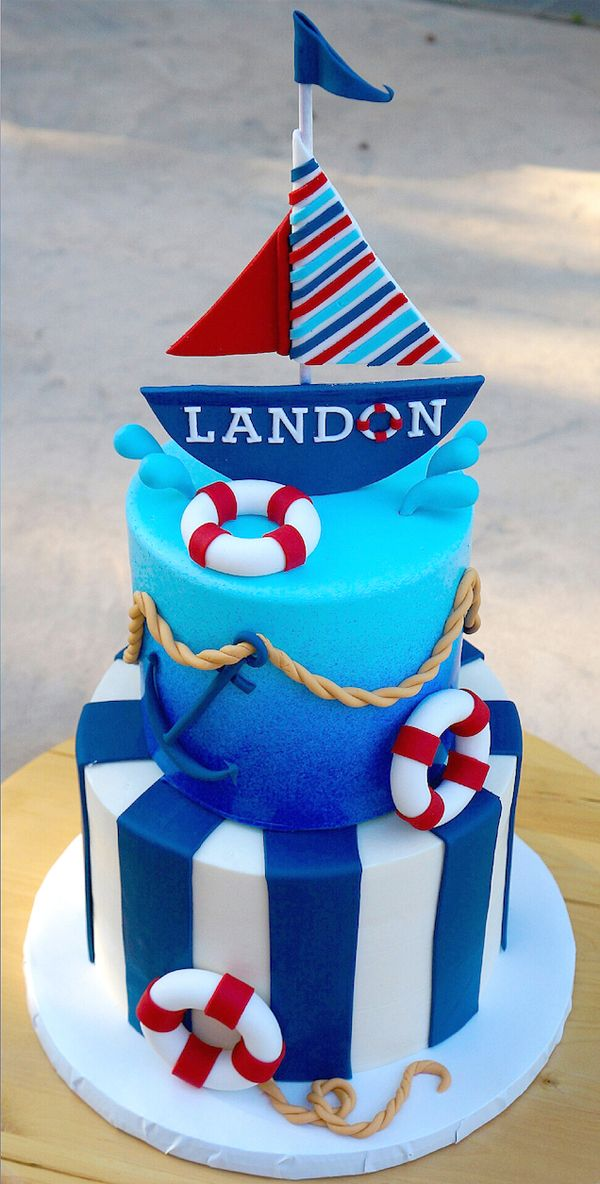 Outstanding Sail Away Showcase Nautical Birthday Cakes Boat Cake Nautical Cake Personalised Birthday Cards Veneteletsinfo