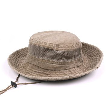 e5801a52ef5 High-quality Men Summer Washed Cotton Visor Bucket Hats Outdoor ...