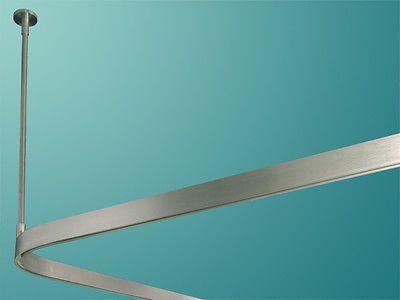 Duschvorhangstange Aluminium Eckig L Form Nach Mass Am Stuck Duschvorhangstange Dusche Duschvorhang