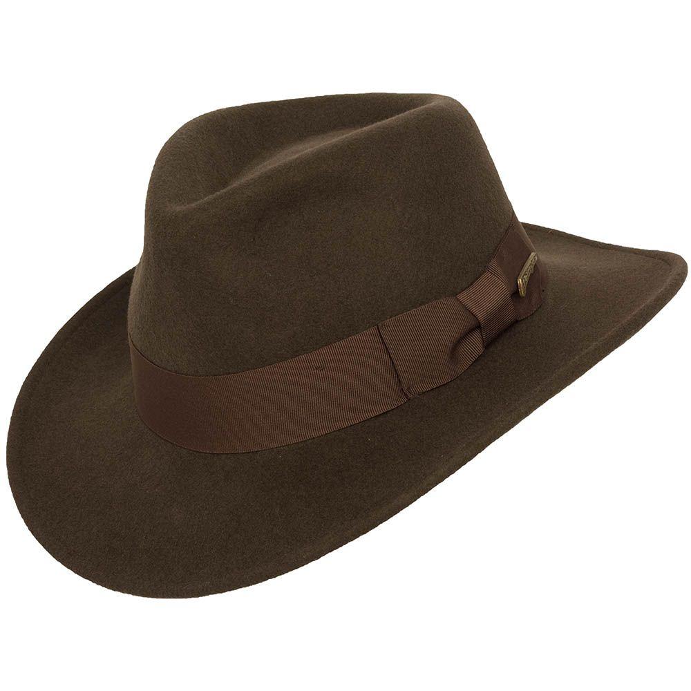 5ddb8b25149 Dorfman-Pacific Indiana Jones Wool Felt Crushable Hat