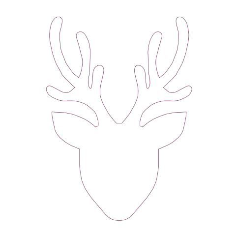 Stag Head Template Printable Photos Highest Quality Pattern