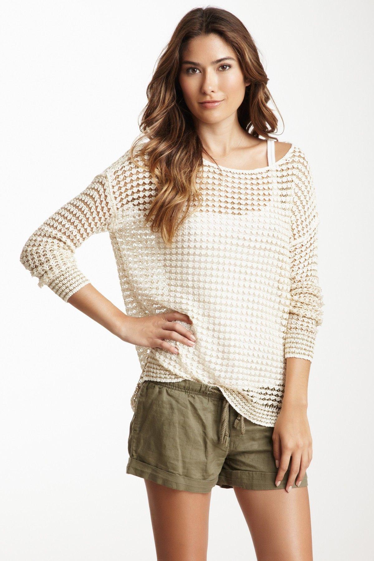 Love Stitch Long Sleeve Lurex Tunic Sweater on HauteLook | WANT ...