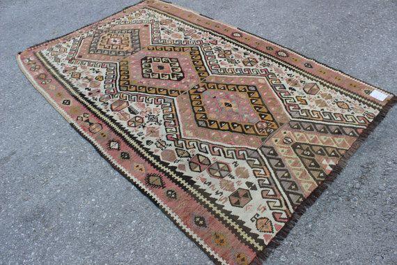 Traditional Handmade Anatolian Wool Kilim Rug by TURQUOISEKILIM