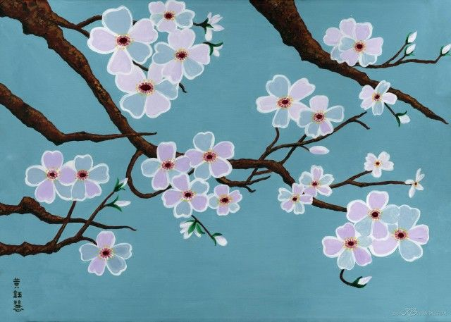 how to paint a cherry tree cherry blossom tree painting