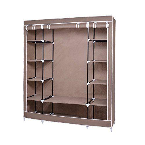 Fabric Wardrobe Bedroom Furniture Closet Storage Cupboard Hanging - Bedroom furniture for hanging clothes