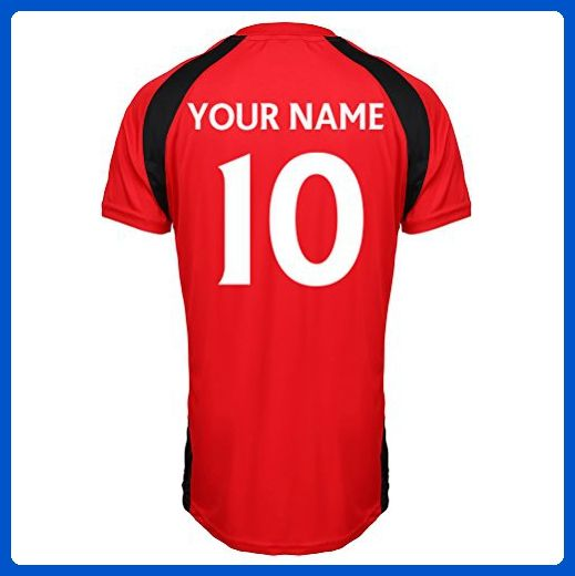 c686737a4cc Manchester United Official Personalised Club Merchandise Your Name Number  Here Football Soccer Training Top For Adults Junior Children Kids England  Match ...