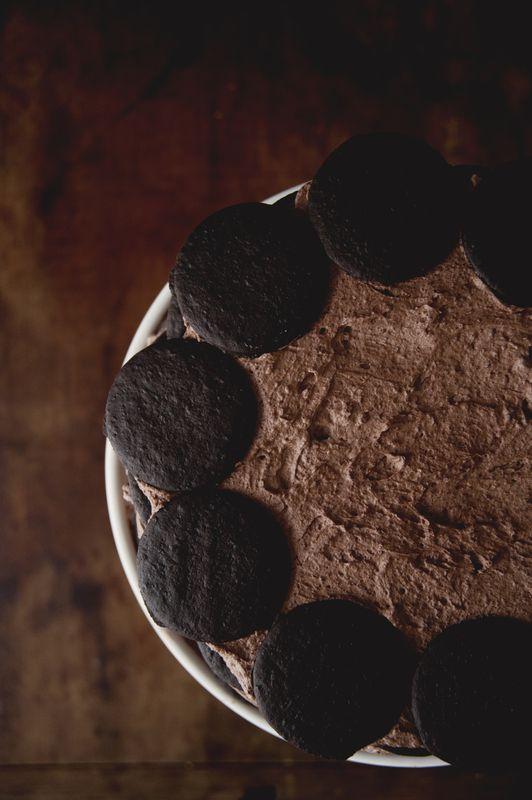 Dark chocolate coffee ice box cake recipe