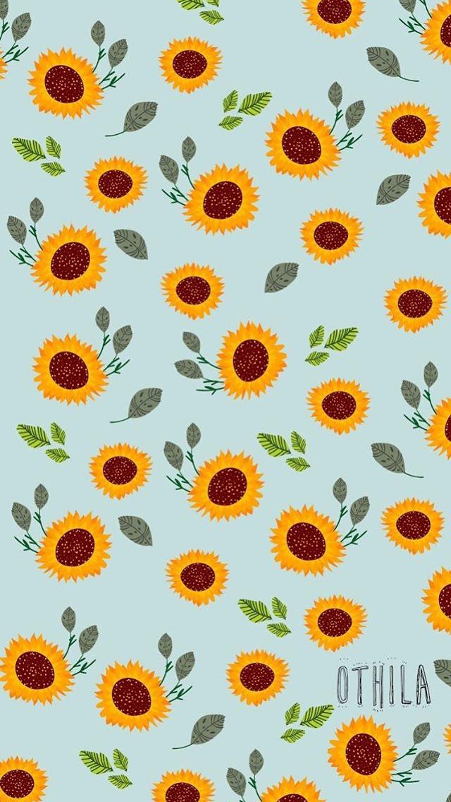 Girasol Fondo De Pantalla De Dibujos Animados Sunflower Wallpaper Sunflower Iphone Wallpaper Iphone Background Wallpaper