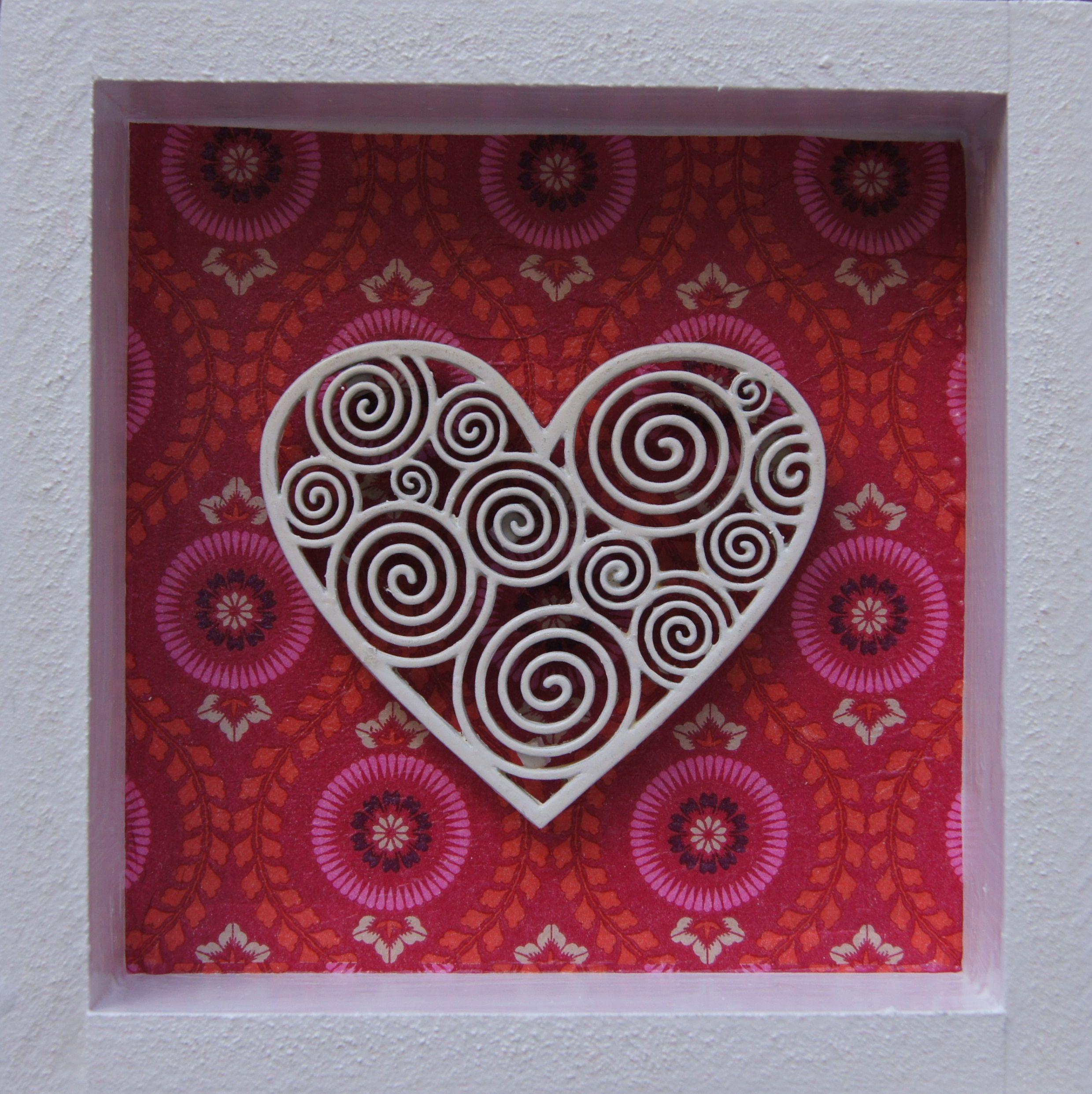 Corazón | Cuadros decoupage | Pinterest | Cuadro, Peinetas y Siluetas