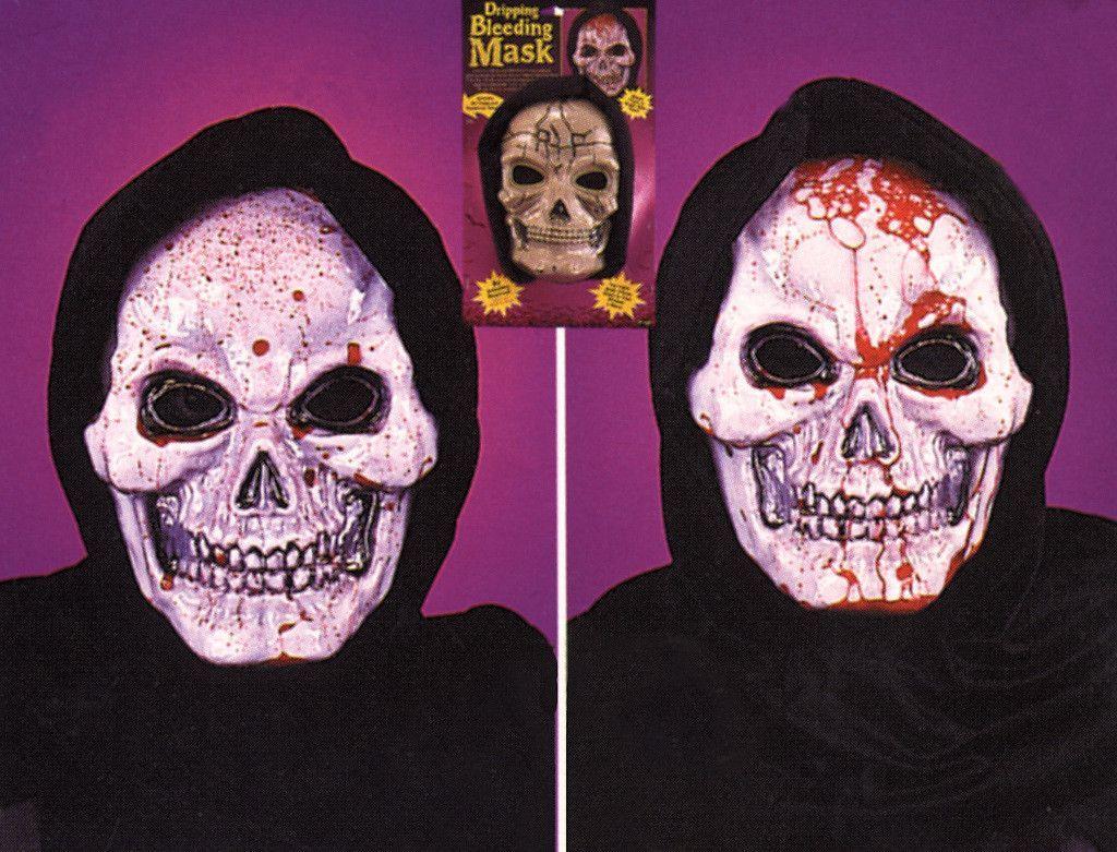 costume mask: skull mask dripping bleeding