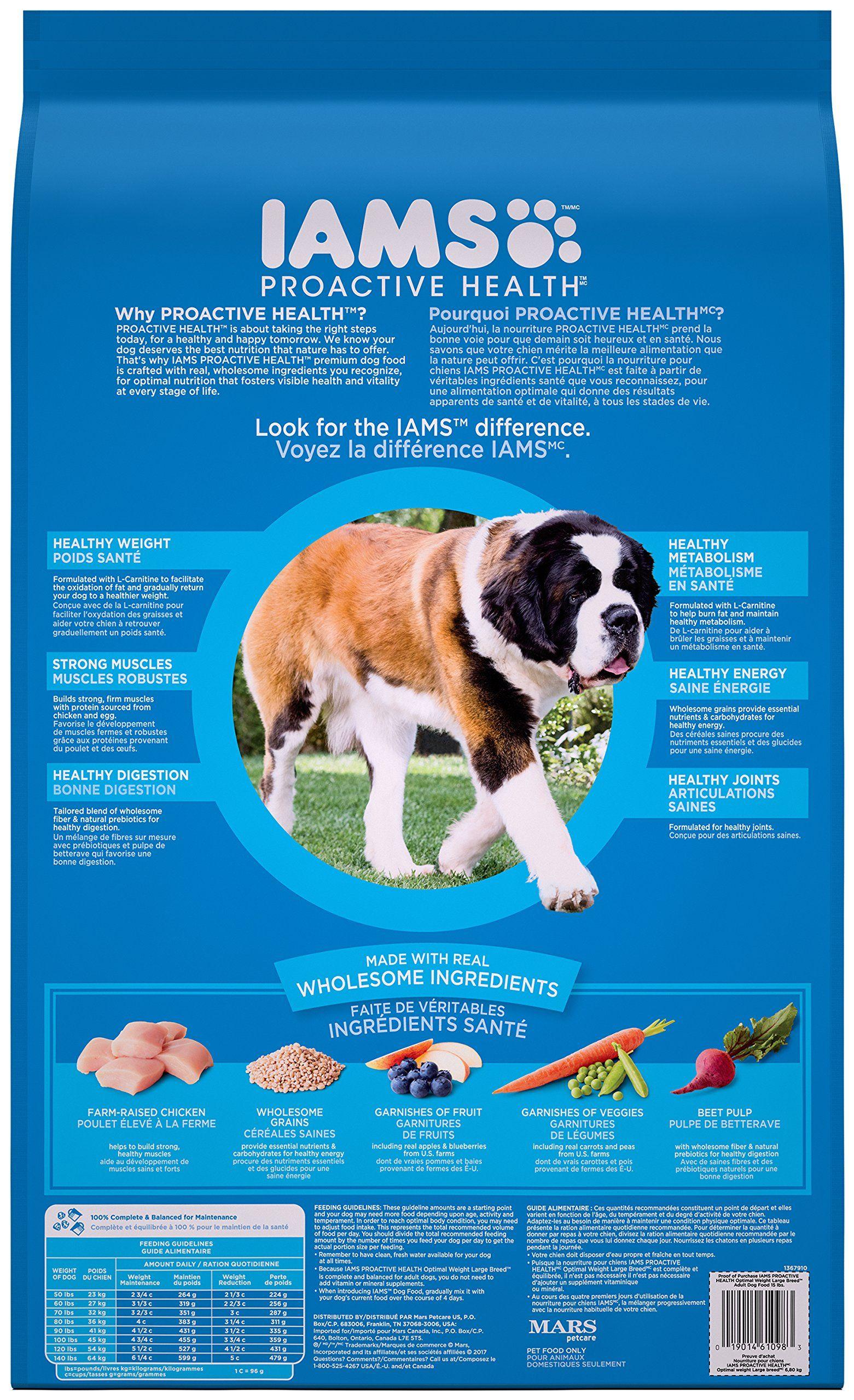 Iams proactive health dry dog food large breed optimal