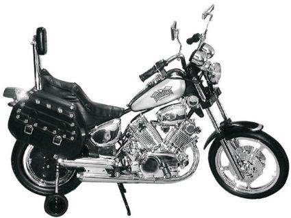 Electric Motorized Harley Style Motorcycle W Training Wheels