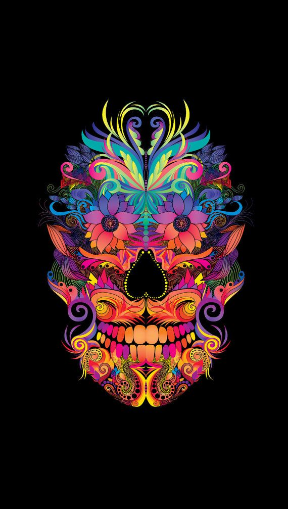 Instant Download Abstract Mexican Skull Art By DoodleDesignByCB