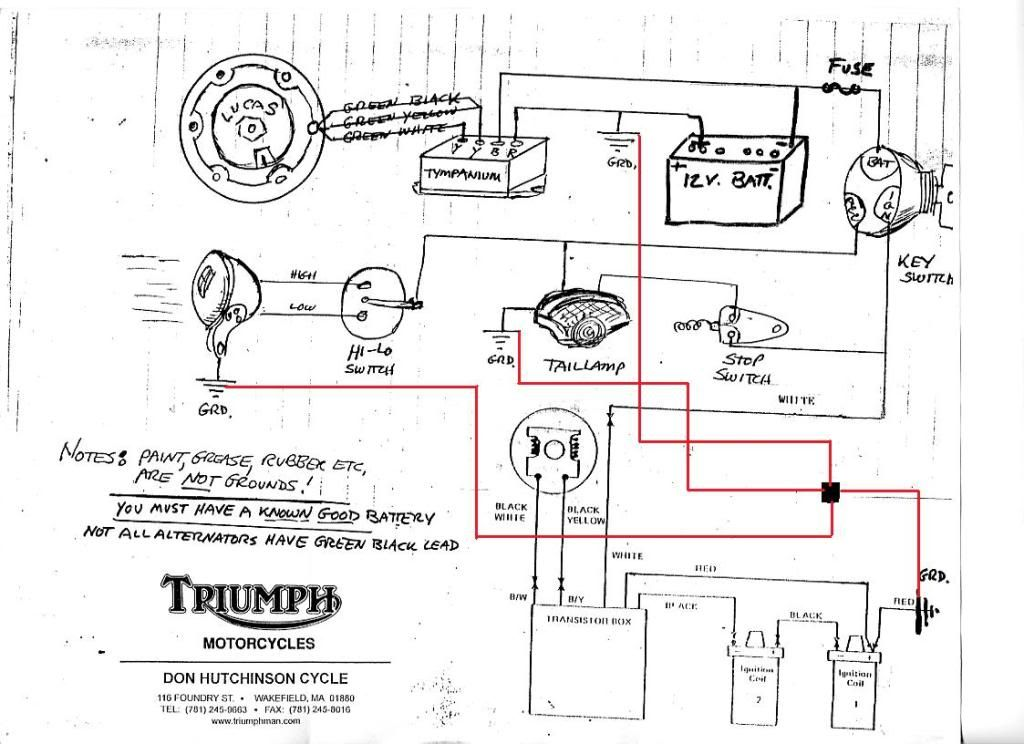 wiring triumph bobber