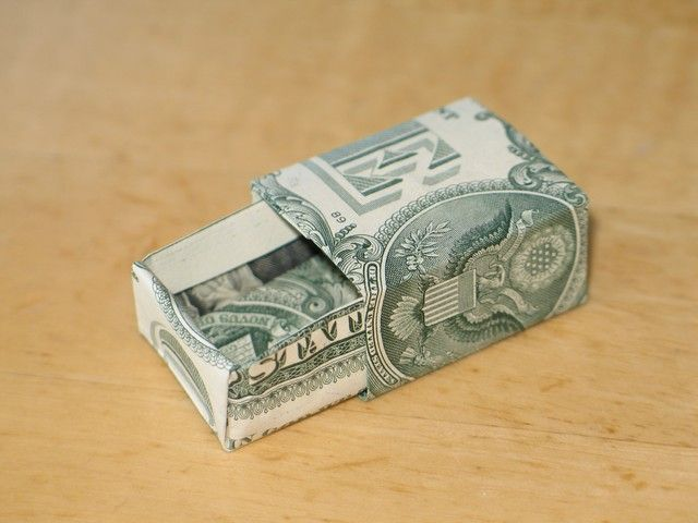 Dollar Bill Origami Box Drawer Shirt With Tie More Crafts