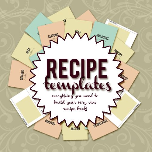 create your own recipe book with this 8 5 x 11 recipe template this set contains everything you. Black Bedroom Furniture Sets. Home Design Ideas