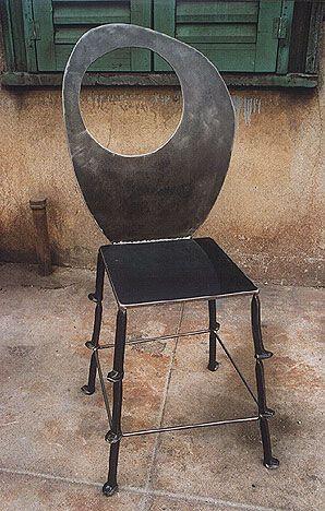 Genial Rail Road Spike Chair, Bruce Gray