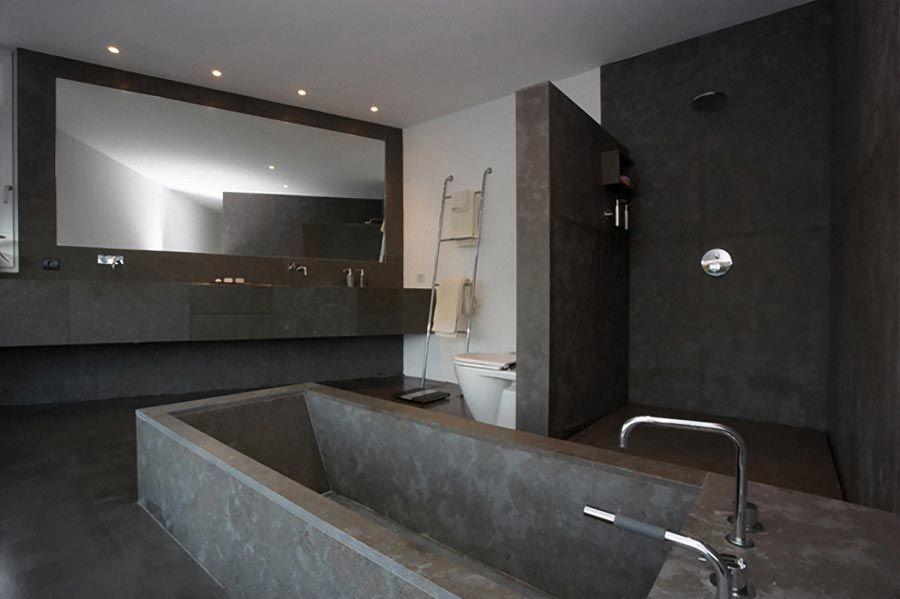 Concrete Bathroom Ideas: Pretty Close To Our Cast In Place Bathroom.
