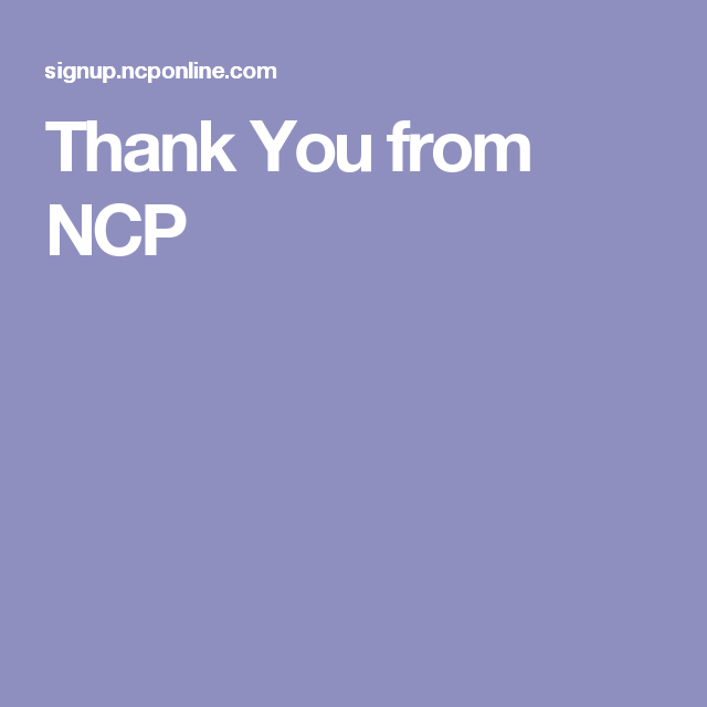 Thank You from NCP