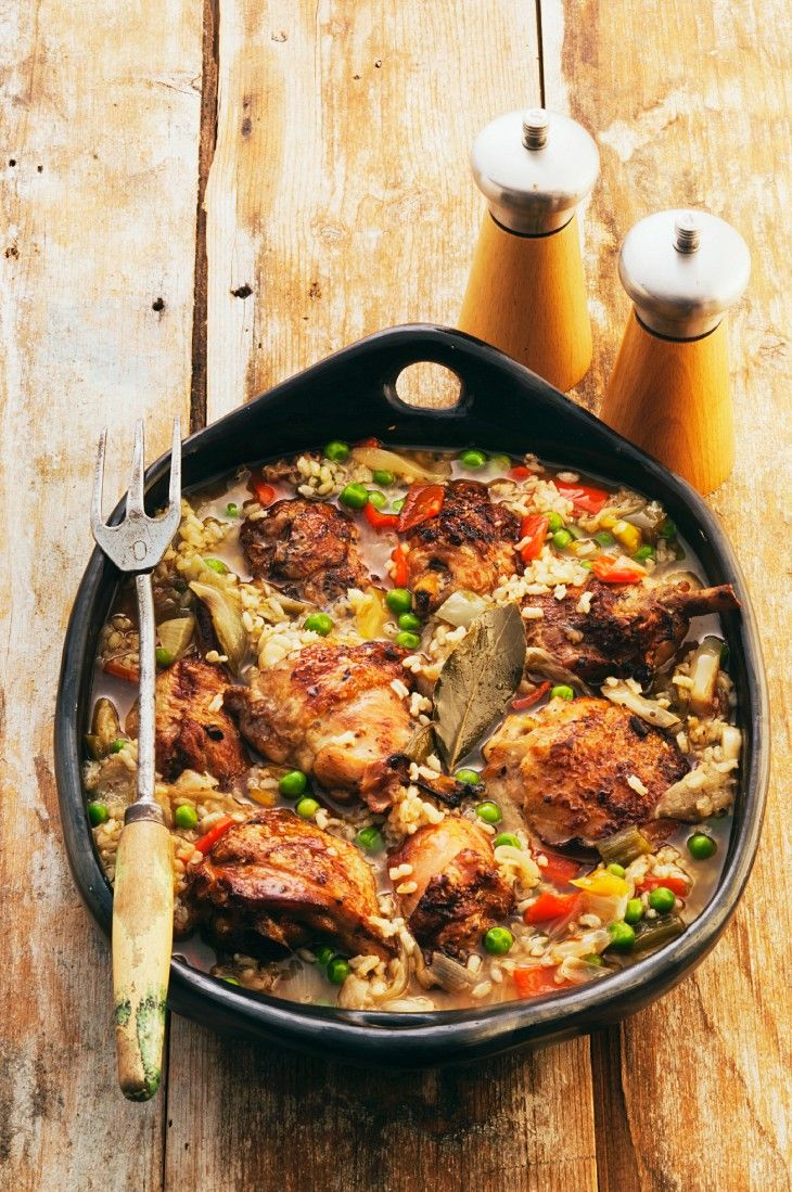 Hähnchen-Reispfanne - smarter - Zeit: 20 Min. | eatsmarter.de
